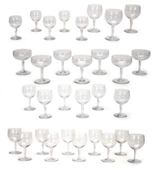 """A collection of Baccarat """"Rabelais"""" stemware"""