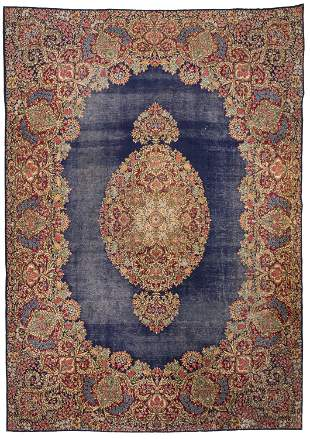 A Kirman area rug