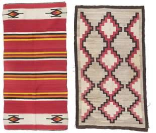 Two Navajo regional rugs