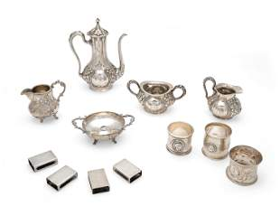 A group of .925 and .800 silver objects
