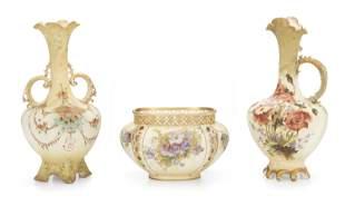 A group of Amphora art pottery