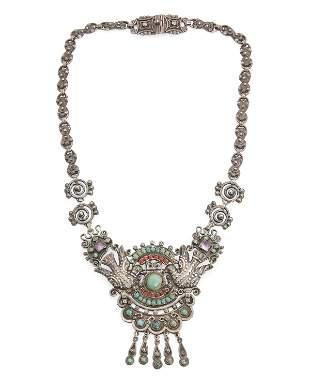 A Matl Mexico silver necklace/ brooch