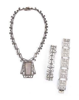 A group of Margot de Taxco silver jewelry