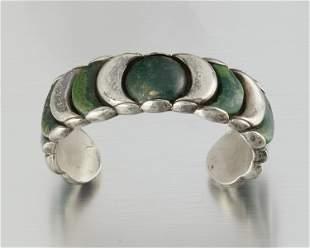 A William Spratling silver and hardstone cuff bracelet