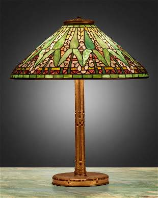 "A Tiffany Studios ""Arrowroot"" table lamp"