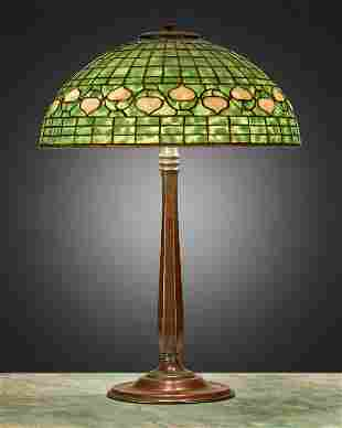 "A Tiffany Studios ""Acorn"" table lamp"