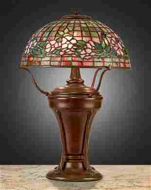 "A Tiffany Studios ""Dogwood"" table lamp"
