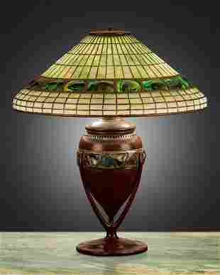 "A Tiffany Studios ""Turtle-Back"" table lamp"