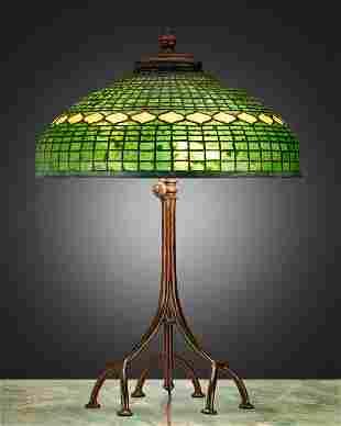 "A Tiffany Studios ""Vine Border"" table lamp"