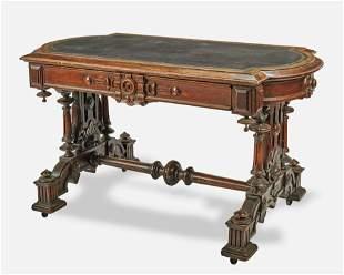 A Victorian Renaissance Revival library table