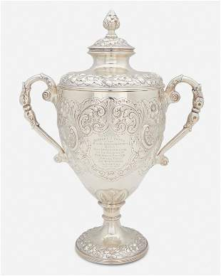An American sterling silver trophy urn