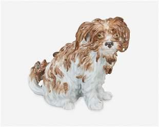 """A Meissen """"Bologner Hund"""" porcelain dog"""