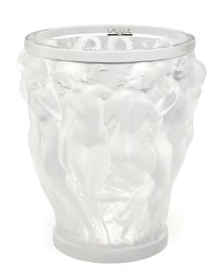 "A Lalique ""Bacchantes"" crystal vase"