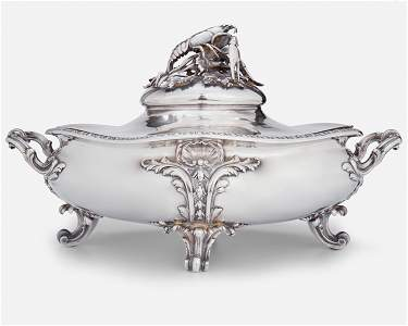 A Maison Odiot French sterling silver serving dish