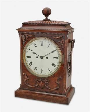 An English wood case clock