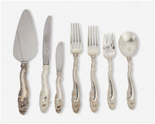 "A Gorham ""Decor"" sterling silver flatware service"