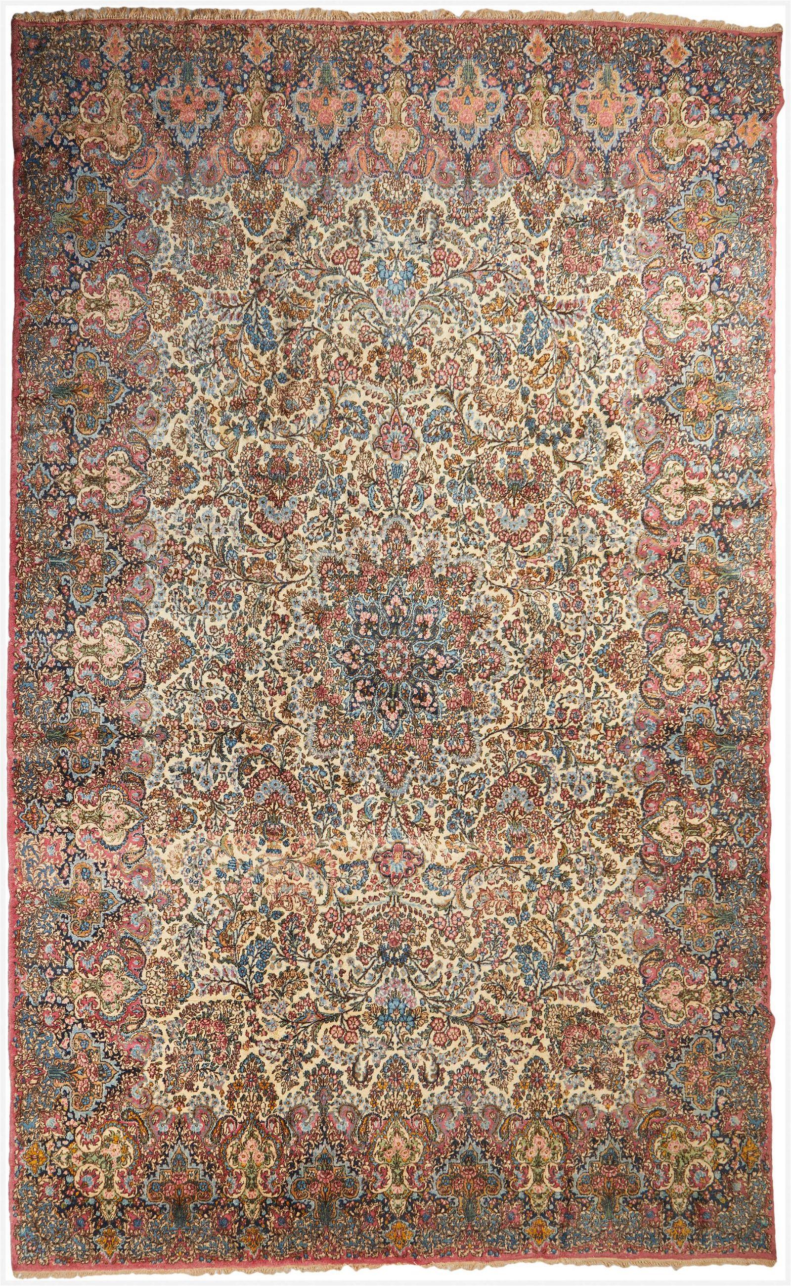 A Persian Kerman room-sized rug