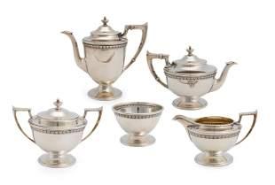 A Bailey, Banks, Biddle & Co. sterling silver tea set