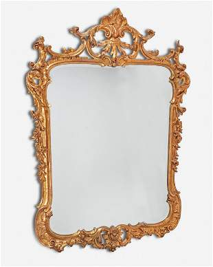 A La Barge Rococo-style carved giltwood wall mirror