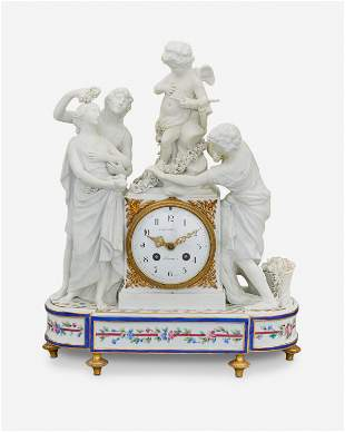 A Sevres French Empire-style bisque porcelain figural
