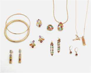 A  group of gem-set jewelry