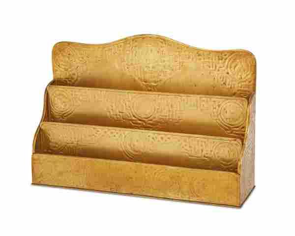 "A Tiffany Studios gilt-bronze ""Zodiac"" paper rack"