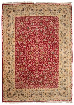 A Persian area rug