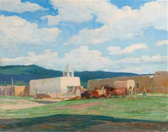 Oscar E. Berninghaus (1874-1952, Taos, NM)