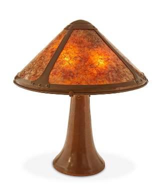 A Dirk van Erp Hammered Copper Table Lamp