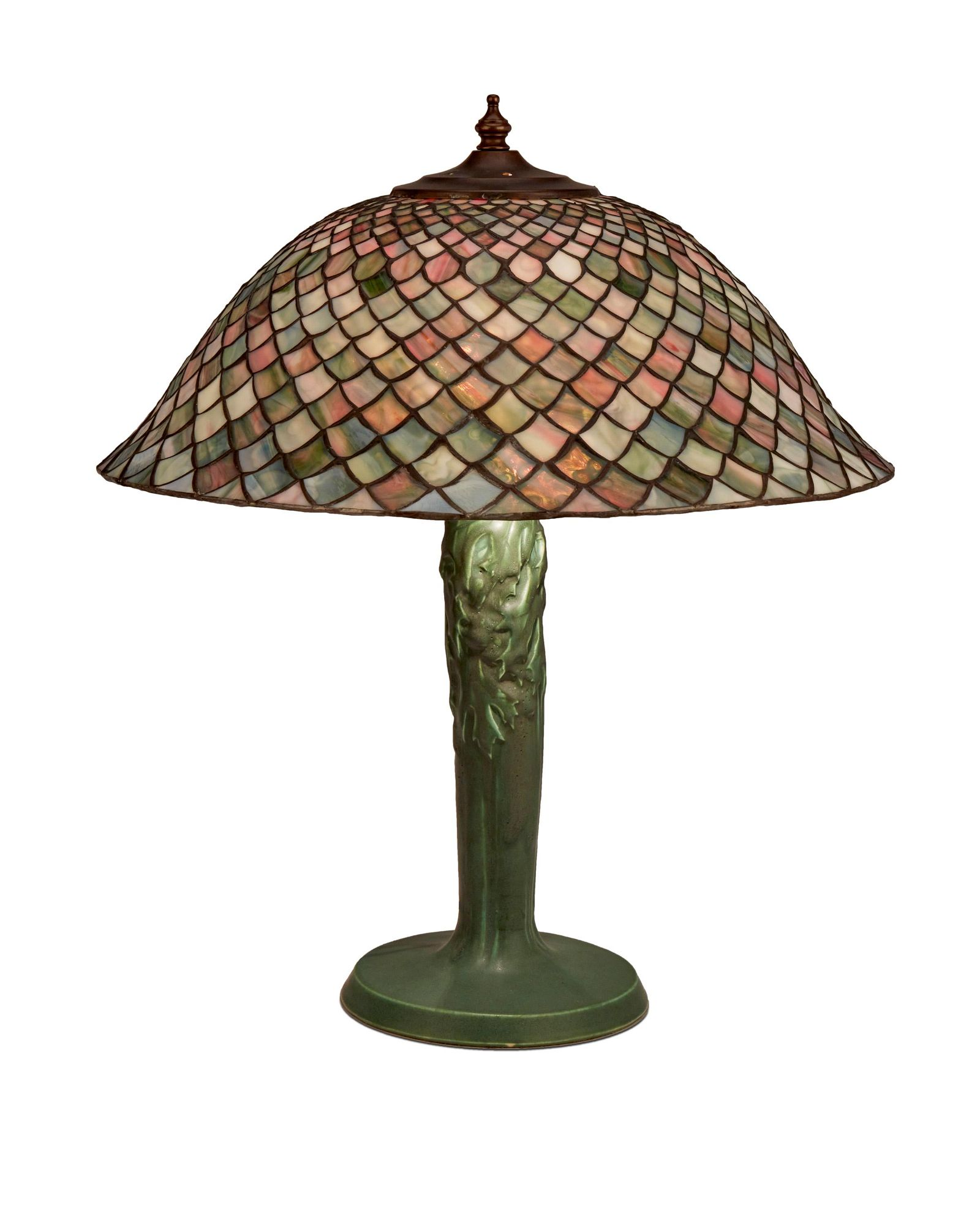A Rookwood pottery lamp