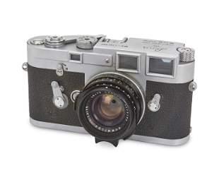 A Leica M3 single-stroke 35 mm rangefinder camera