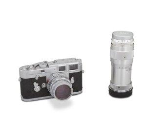A Leica M3 single-stroke 50 mm rangefinder camera