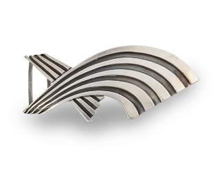 An Antonio Pineda silver belt buckle