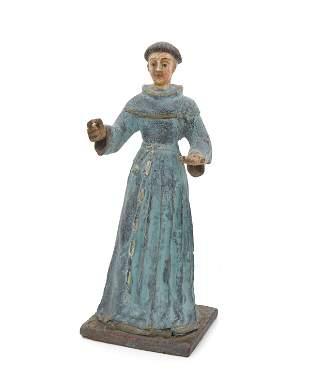 A Saint Francis santos figure