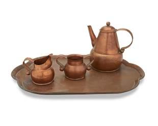 A Hector Aguilar copper tea service
