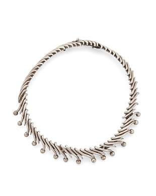 An Antonio Pineda sterling silver necklace