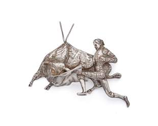 A Fred Davis silver Matador brooch