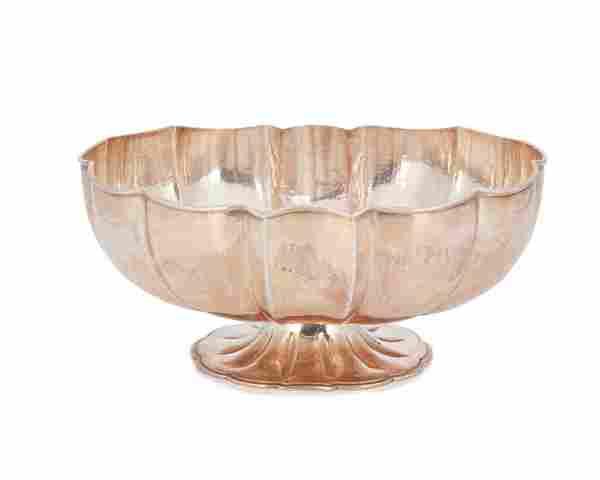 A Buccellati sterling silver centerpiece bowl