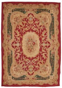 An Aubusson tapestry rug