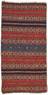 A Shirvan Caucasian Kilim area rug