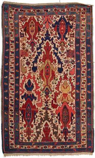 A Kuba area rug