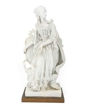 A Continental bisque porcelain figure