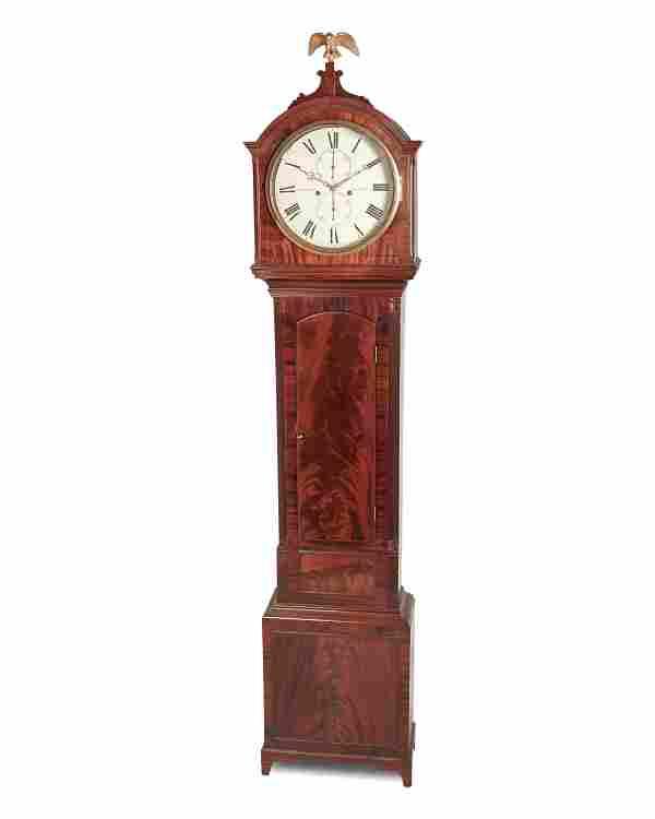 A Scottish mahogany longcase clock