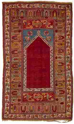 A Turkish Ghiordes prayer rug
