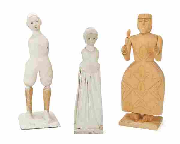 Three Latin American figural sculptures