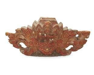 "A large Balinese ""Boma"" figural threshold guardian"