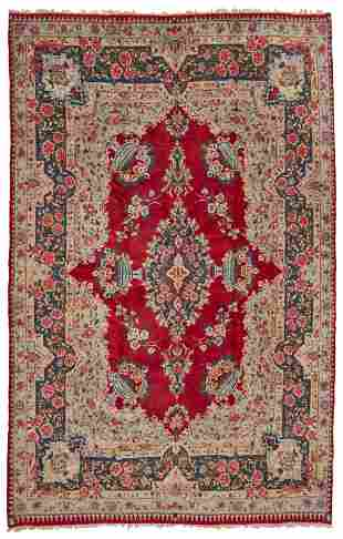 A Kerman area rug
