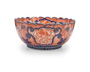 A large Chinese Imari porcelain bowl