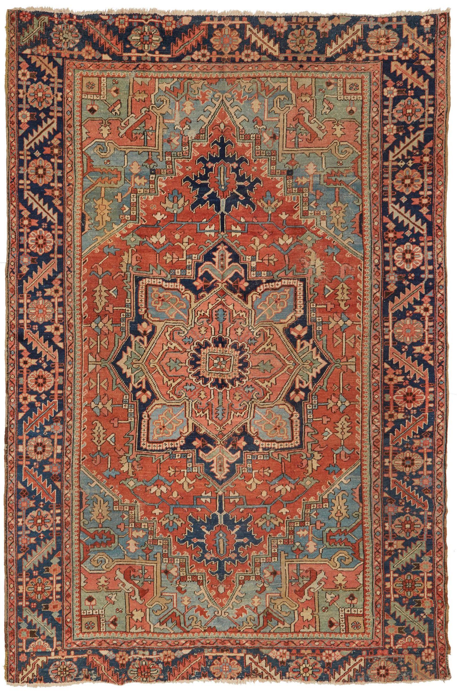 An Iranian Heriz area rug