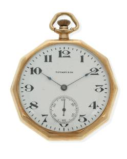 A gold pocket watch, Tiffany & Co